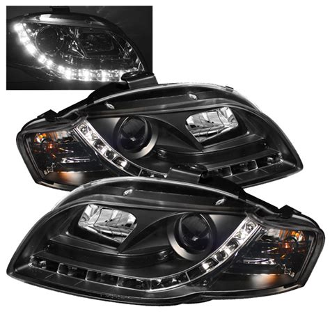 audi a4 2006 led headlights spyder 2006 2008 audi a4 led drl projector headlights