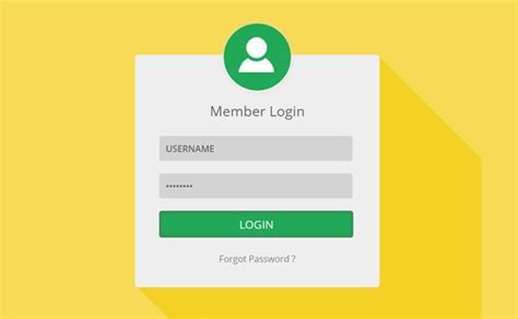 Templates For Login Page | html5 login page template form free premium templates