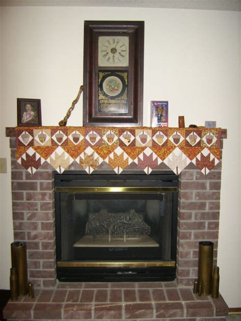 fireplace mantle scarf fall mantel scarf