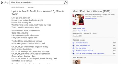 Singing In The Shower Lyrics by Microsoft Brings Song Lyrics To Search Results