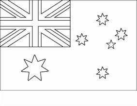 australian flag template to colour australian flag printable coloring page driverlayer