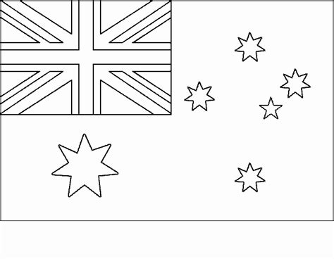 Australia Flag Coloring Page free coloring pages of australian flag