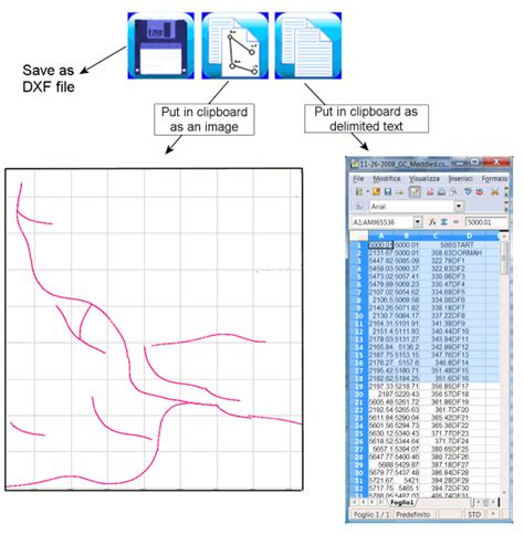 pointor point list convertor with dxf input and output how to convert from dxf to xls excel