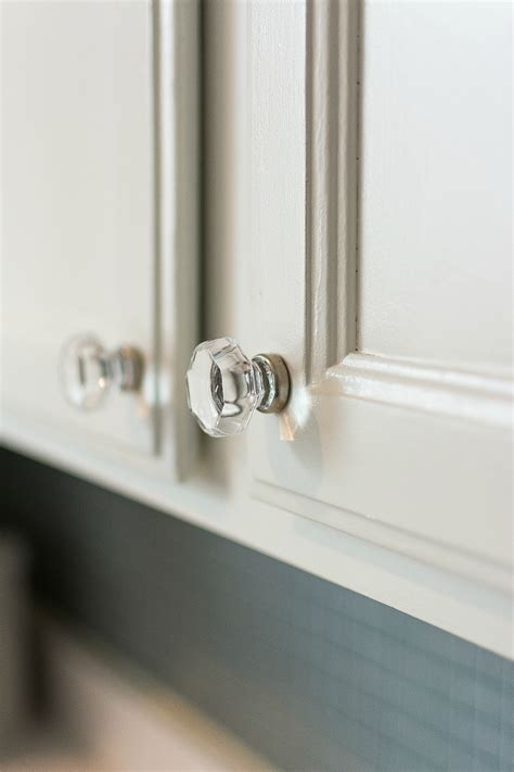 glass hardware in kitchen