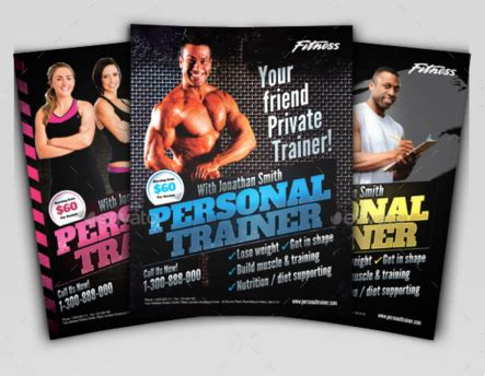 20 Personal Training Flyers Design Blog Personal Trainer Ad Template