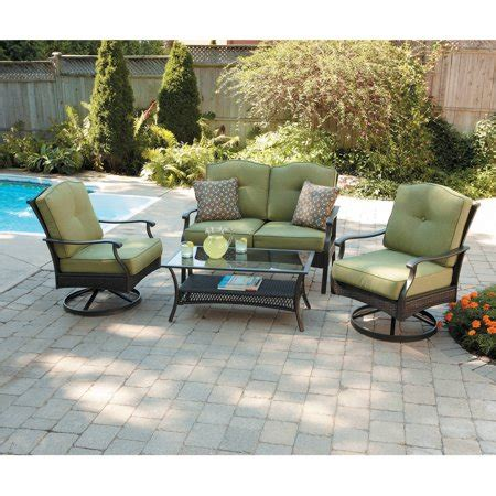 patio furniture sets walmart better homes and gardens providence 4 patio