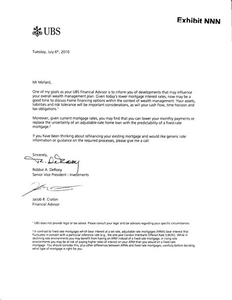 Ubs Credit Letter Internalrevenue Issue 14