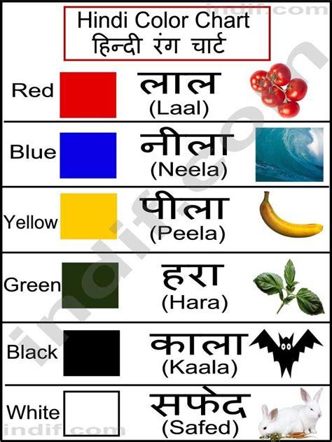 theme names in hindi hindi colors hindi color chart ह न द र ग च र ट for