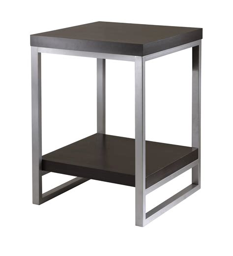 Steel End Table winsome jared end table enamel steel by oj commerce
