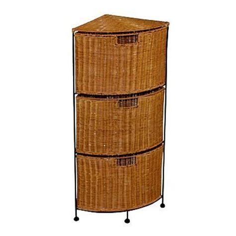 4 Drawer Wicker Storage Unit by 3 Drawer Wicker Corner Storage Unit Front
