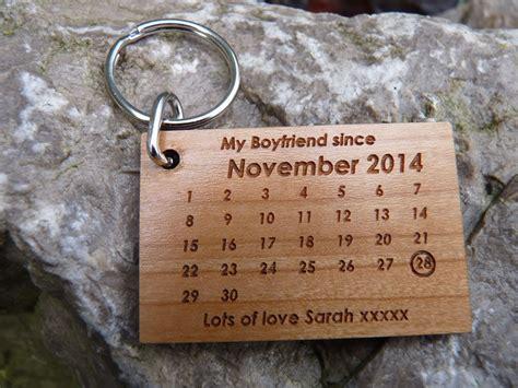 personalised boyfriend keyring romantic valentines day