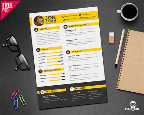 Sample Student Resume Template by Download Creative Resume Template Free Psd Psddaddy Com