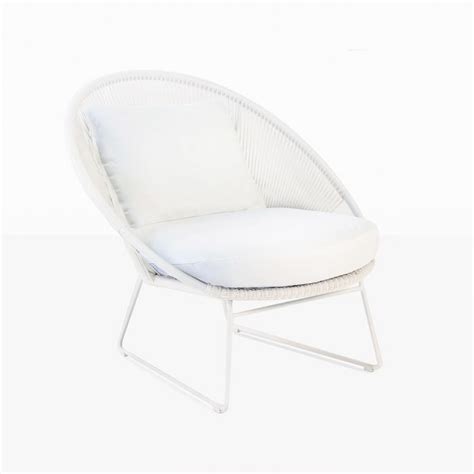White Outdoor Lounge Chair by Natalie Outdoor Lounge Chair White Teak Warehouse