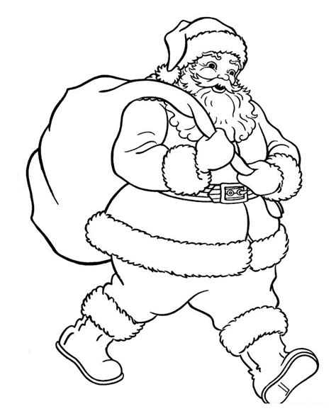 Printable Santa Pictures To Color | free printable santa claus coloring pages for kids