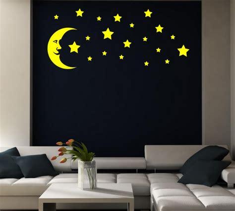 moon and stars bedroom decor moon and stars kid s room nursery bedroom wall