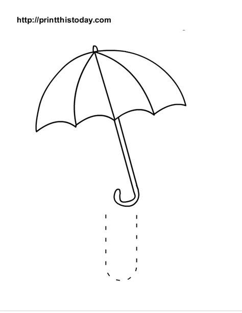 umbrella pattern to trace free printable alphabet u tracing worksheets