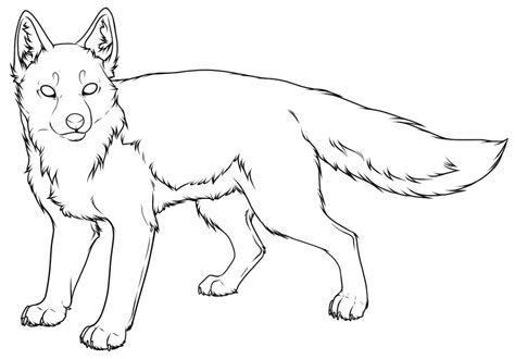 swift fox coloring page swift fox lineart a by pred adopts on deviantart