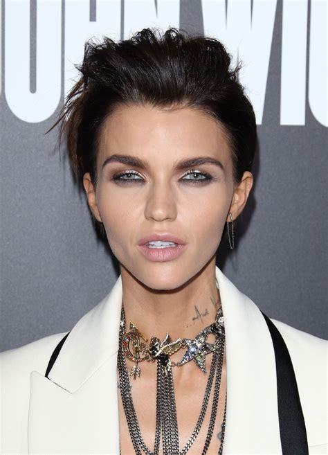 ruby rose langenheim ruby rose at john wick chapter 2 premiere in los