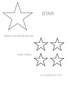 shapes worksheet star ziggity zoom