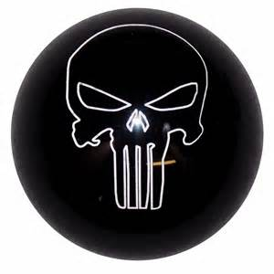 punisher skull black shift knob