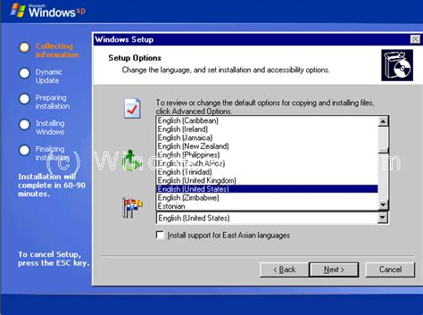 xp configure home page parallel install windows xp home from another operating system