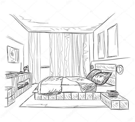 bedroom sketch bedroom perspective drawing sketch coloring page
