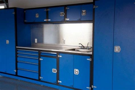 Garage Cabinets Design Lovely Blue Color Garage Cabinets Plans Woodworking