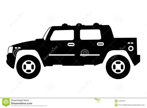 jeep silhouette jeep stock image image 14675871