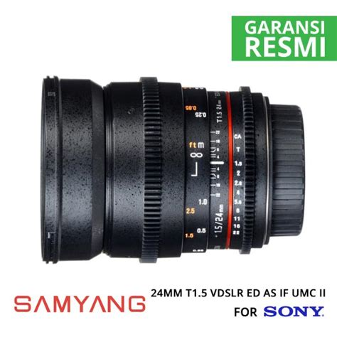 Samyang For Sony 35mm T1 5 Vdslr jual samyang 24mm t1 5 vdslr ed as if umc ii for sony