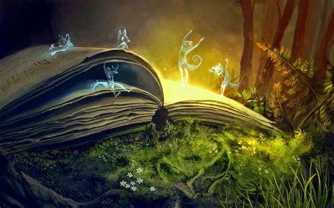 book walpaper sprites magic book spirits wallpapers