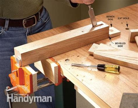 wood workbench upgrade diy workbench upgrades the family handyman