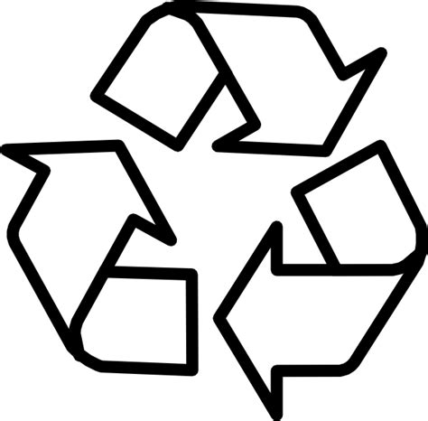 recycle sign template recycling symbol outline clip at clker vector