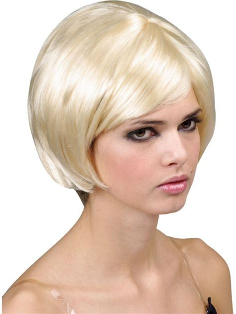 pictures of short 60s bobs supermodel short blonde babe bob wig 20s 60s 70s fancy