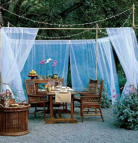 Diy Backyard Decorating Ideas 20 Diy Outdoor Curtains Sunshades And Canopy Designs For Summer Decorating