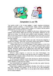 computer biography in english english worksheets computers in our life
