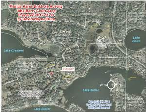 florida sinkhole map 2012 area map wax berry court sinkhole windermere orange