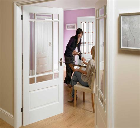 Interior Glass Doors White 2 Panel Downham Glazed White Door