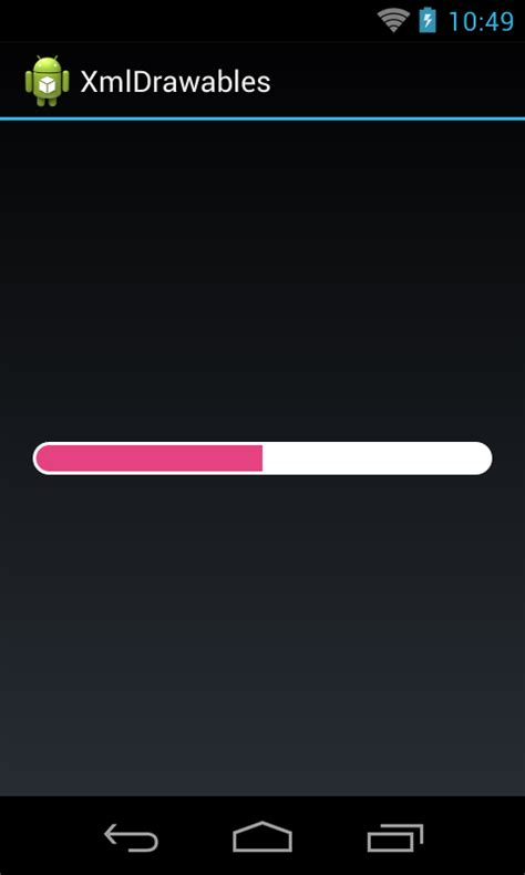 Android Progress Bar by Android Dev Exles Android Custom Horizontal Progressbar