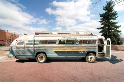 The Allegro Coffee Company Flxible Bus by Timeless Travel Trailers