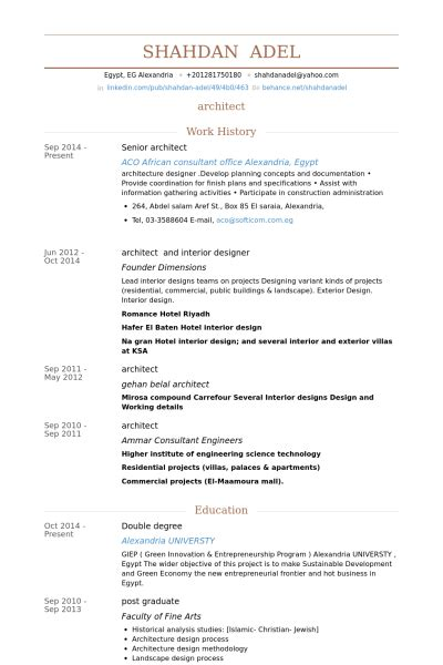 Senior Architect Resume Sles Visualcv Resume Sles Architecture Resume Template