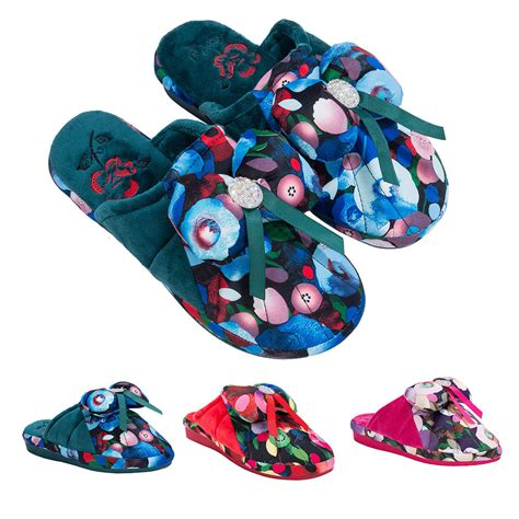 soft bedroom slippers women floral bowknot soft bedroom slippers indoor house