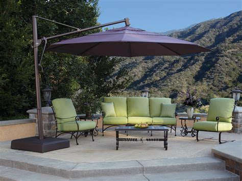 Large Offset Patio Umbrella Patio Large Cantilever Patio Umbrellas Home Interior Design