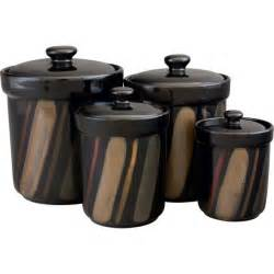 sango avanti black canister set of 4 free shipping on