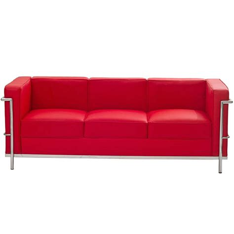 modern leather couch the best red leather sofa for your house knowledgebase