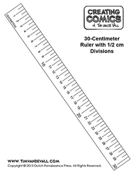 printable paper ruler free centimeter ruler template creating comics