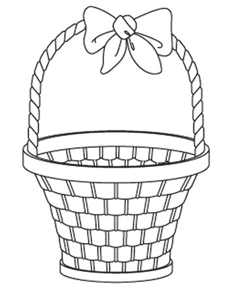 coloring page of empty easter basket empty easter basket coloring book