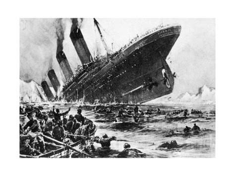 the sinking of the titanic 1912 the sinking of ss titanic 14 april 1912 giclee print at