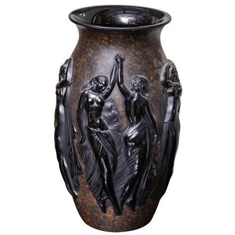 deco vase by sabino for sale at 1stdibs