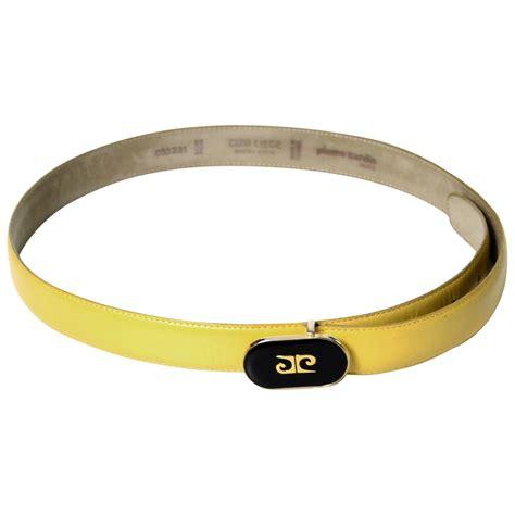 pierre cardin vintage leather belt rare yellow