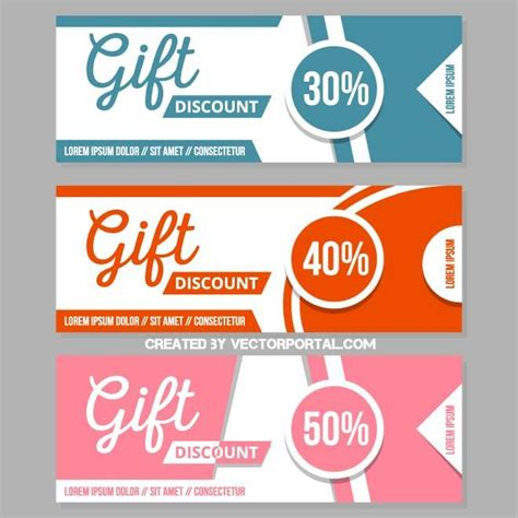 Promo Promo discount coupons template at vectorportal